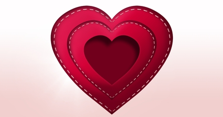 Digital composite of Stitched Valentines Heart Stock Photo