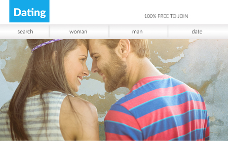 Print screen of a dating site  Banque d'images