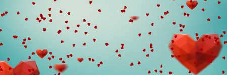 Digitally generated love heart pattern