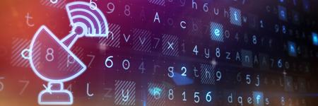 Networking against virus background