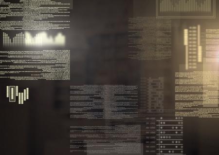 Digital composite of screen text interface Archivio Fotografico - 96903369