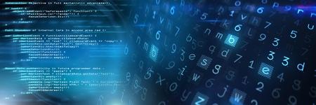 Digital composite of Coding text with transition Foto de archivo