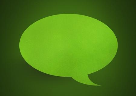 Digital composite of Paper speech bubble