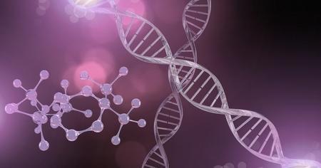 Digital composite of Genetic DNA sparkles