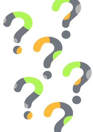 Digital composite of minimal question marks