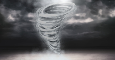 Digital composite of Tornado twister painted and dark sky