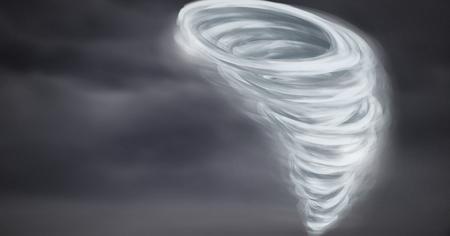 Digital composite of Tornado twister painted and dark sky