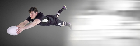 Digital composite of Rugby player with motion transition
