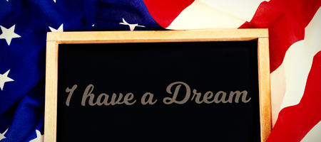 I have a dream against blank slate on american flag Stock Photo