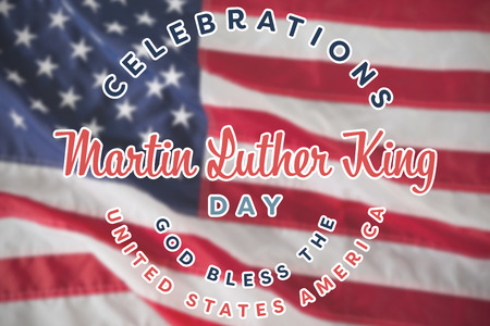 Martin Luther king day against close-up of an flag