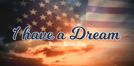 I have a dream against composite image of united states of america flag Stock Photo