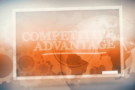 Competitive advantage written on a chalkboard and underlined in green