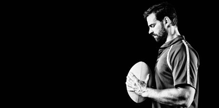 Tough Rugby Player Stock Photo