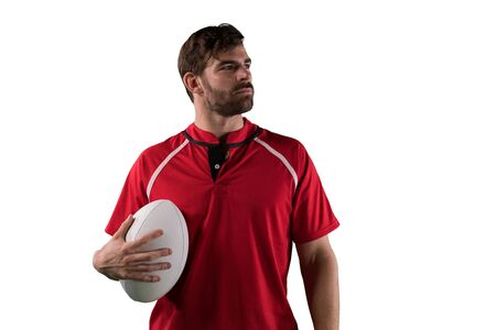 Tough Rugby Player 免版税图像