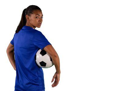 Tough female soccer player
