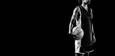 Tough female basketball player
