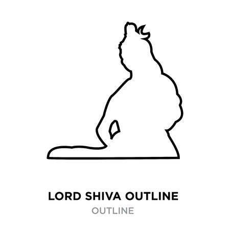 lord shiva outline images on white background, vector illustration Vectores