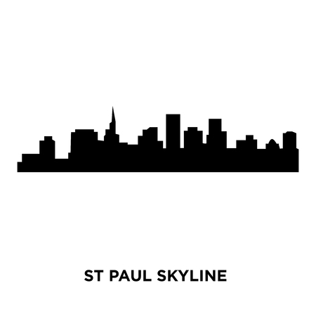 st paul skyline on white background, vector illustration