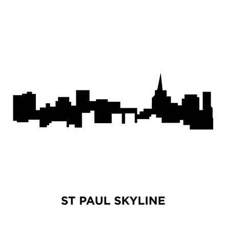 st paul skyline on white background, vector illustration
