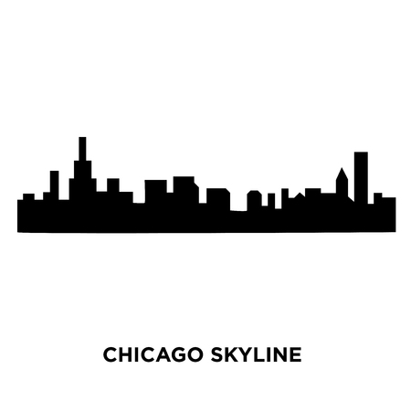 chicago skyline silhouette on white background vector illustration