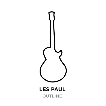 Image Les Paul outline on white background, vector illustration