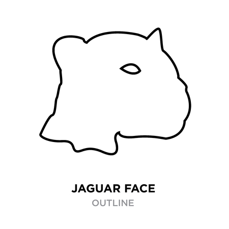 A face outline on white background, vector illustration Illustration
