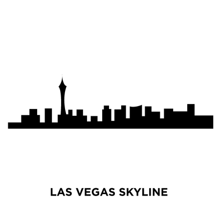 A Las Vegas skyline silhouette on white background, vector illustration