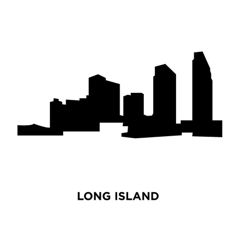 A long island silhouette on white background, vector illustration