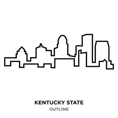 A Kentucky state outline on white background