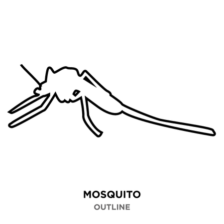 A mosquito outline on white background Stock Vector - 99144873