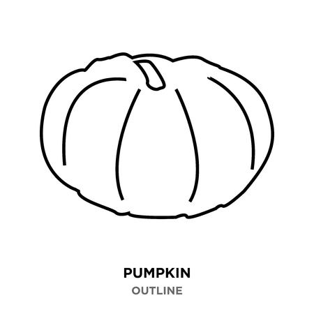 A pumpkin outline images on white background