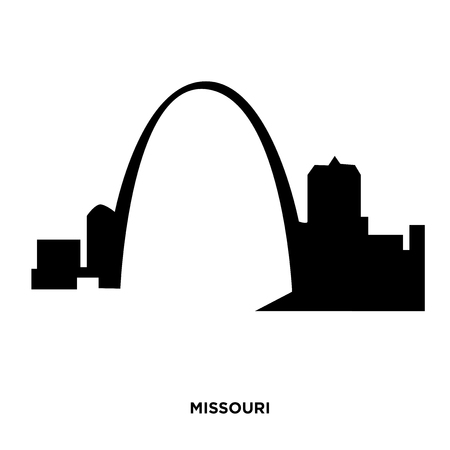 A Missouri silhouette on white background, in black 矢量图像
