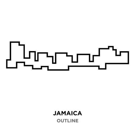 Jamaica outline on white background Ilustração