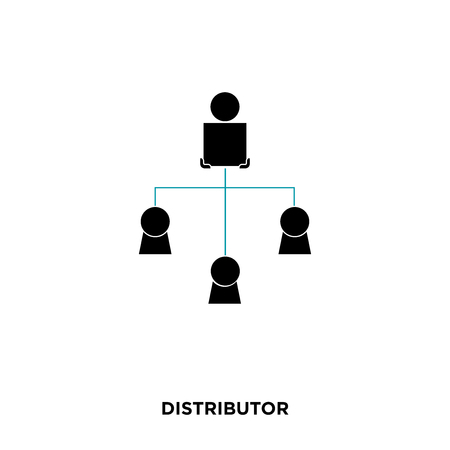 Distributor icon on white background.