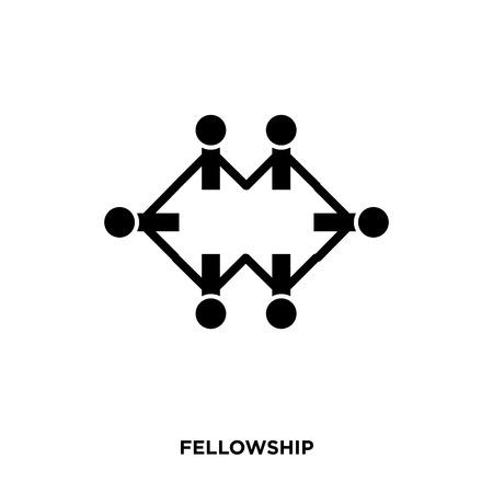 Fellowship icon on white background.