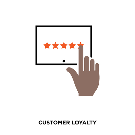customer loyalty icon on white background, vector icon illustration