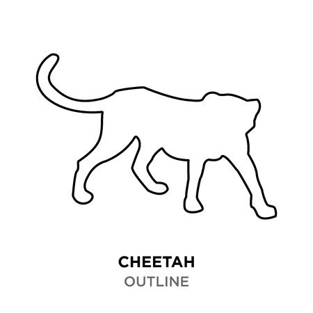 cheetah outline on white background Stock Illustratie