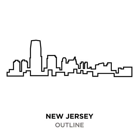 new jersey outline outline on white background Illusztráció