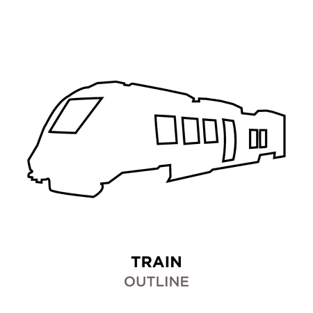 train outline images on white background Illustration