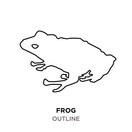 frog outline on white background
