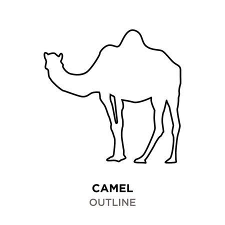 camel outline on white background