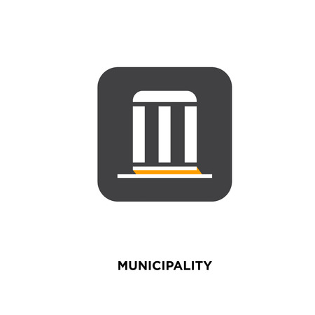 municipality icon isolated on white background for your web, mobile and app design