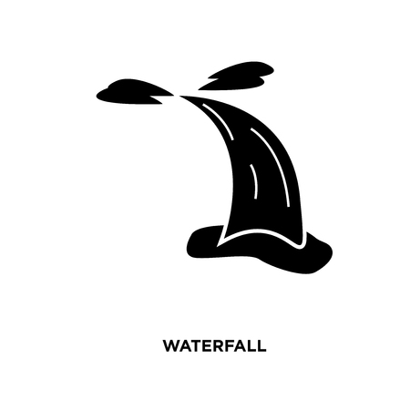 waterfall icon isolated on white background for your web, mobile and app design