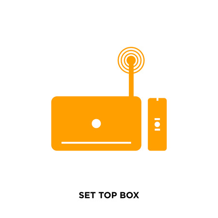 set top box icon isolated on white background for your web, mobile and app design