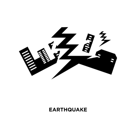 earthquake icon isolated on white background for your web, mobile and app design