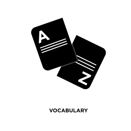 vocabulary icon isolated on white background for your web, mobile and app design