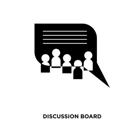 discussion board icon isolated on white background for your web, mobile and app design