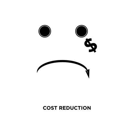 cost reduction icon isolated on white background for your web, mobile and app design