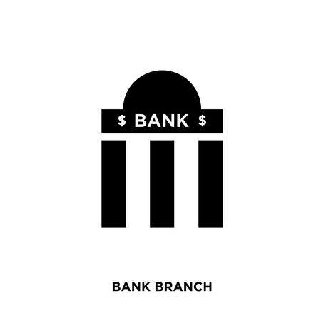bank branch icon isolated on white background for your web, mobile and app design