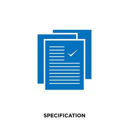 웹, 모바일 및 응용 프로그램 디자인을위한 흰색 배경에 고립 된 사양 아이콘 일러스트